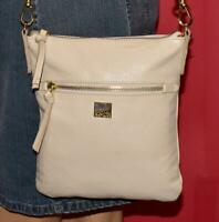 KOOBA Small Off White Pebbled Leather Shoulder Cross-body Pouch Zip Purse Bag