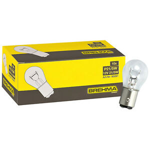 10er Pack BREHMA P21/5W Kugel Lampe BAY15d 21/5 Watt 12V