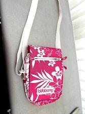 """""""billabong""""canvas handbag in pink and white shoulder strap"""