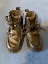 Polo Ralph Lauren Toddler Boys Hi Top Ankle Boots Leather Black Size 5 1/2