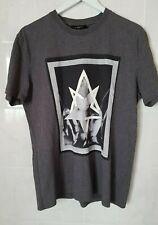 Givenchy Mens Grey Satanico Bondage T-shirt  - Size XL Cuban- Large