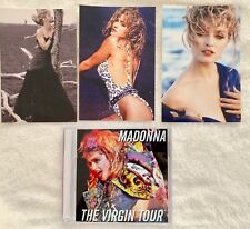 MADONNA VIRGIN TOUR post cards + Free LIVE Audio CD Dress You Up Borderline