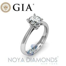 0.79 CT J VS2 GIA CERTIFIED NATURAL DIAMOND SOLITAIRE PLATINUM ENGAGEMENT RING