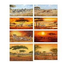 Artland Leinwandbild Afrika Landschaft Geparden Löwen Zebras