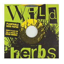 WILD HERBS Plantable Seed Paper 45 Record 2 DISCS Indoor Gardening educational