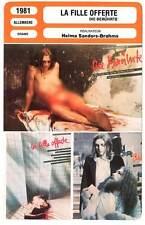 FICHE CINEMA : LA FILLE OFFERTE  Stepanek,Sanders-Brahms1981 No Mercy, No Future