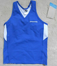 Brooks Royal Blue  ladies Running Team Tank Top in its packet (NEW) XS size 6-8