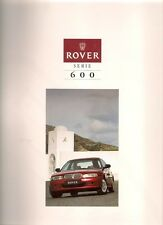 Rover 600-Series 1994 French Market Sales Brochure 620 623 i Si Lux