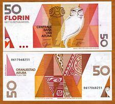 Aruba, 50 florin, 1993, P-13, UNC > owl florin