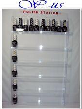 Nail Polish Wall Rack Display Acrylic hold up 60 bottles ( With header design )