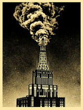 Shepard Fairey - Obey Giant - Oil and Gas Building - 2014 - Industrial Power Art