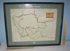 PHILMONT BOY SCOUT MAP - Framed and MATTED - Names on Border - JULY 1968 TREK