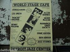 WORLD STAGE CAFE-Detroit Jazz Center-DONALD BYRD-1981
