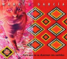 CD DVD MANOLO GARCIA para que no se duerman mis sentidos 2004 ULTIMO DE LA FILA