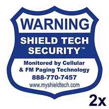 2 BACK ADHESIVE WINDOW or DOOR DECAL -WARNING STICKER ALARM SECURITY SYSTEM PK B