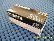 10 BATTERIES VARTA mod. V390 A BOUTON POUR HORLOGES SR 1130 SW AG10/SG10