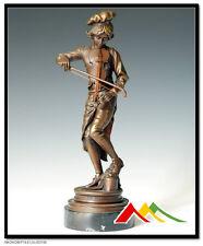 "SIGNED Gaudez, bronze Italian boy violin player ""LULLI ENFANT"""