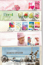 2014 selection of 5 different FDC's (FV of stamps on covers $25.60)