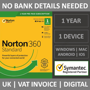 Norton 360 Standard 2021 | 1 Device | 1 Year Subscription Antivirus Security