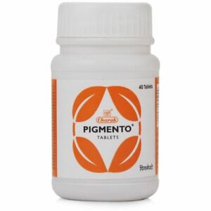 Pigmento Tablets Natural Herbal Remedy for Vitiligo 40 Tablets by charak USA UK