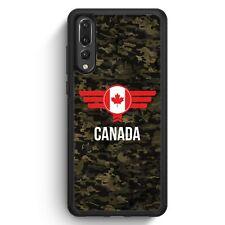 Huawei P20 Pro SILIKON Hülle Canada Kanada Camouflage mit Schriftzug Motiv Desi