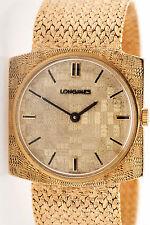 Vintage 1950s $8000 Longines Mens Dress 14k Yellow Gold Watch MINTY 60g WARRANTY