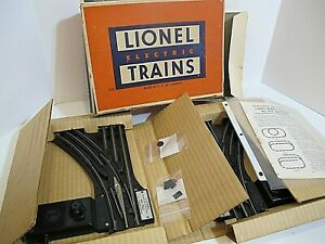 Lionel postwar  022 Switch Pair right and left  w/ box/OB/  inserts  & extras