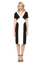 MAGGY LONDON TWO TONE COLOR-BLOCK SCUBA SHEATH DRESS sz 8