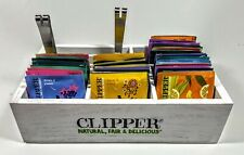 Clipper Tea Stand Box with 60 Assorted Enveloped Tea bags with Teabag Squeezer