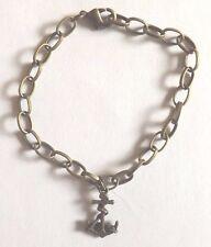 bracelet bronze 18 cm ancre marin 19x11 mm