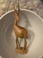 Vintage Besmo Hand Carved Wooden Antelope/Gazelle/Made - KENYA/NOS/FACING LEFT