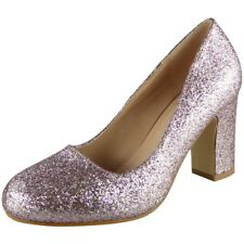 Womens Glitter High Heels Court Shoes Party Bridesmaid Wedding Bride Ladies Size