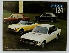 1972 Fiat 124 Brochure 7005 Spider Coupe Wagon Sedan