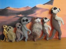 PRINTED INSTRUCTIONS-MEERKAT FAMILY-TOY KNITTING PATTERN