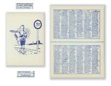 Herge Tintin rare calendrier scout poche 1952