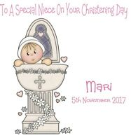 Handmade Card Christening Baptism  Daughter Son Grandson  Personalised