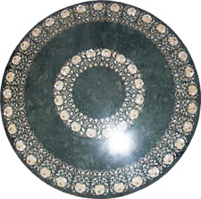 "36"" Green Marble patio / coffee sofa Table Top Inlaid handicraft art work"
