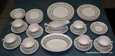 Vintage Royal Doulton ALMOND WILLOW 45 Piece Dinnerware Set - ULTRA RARE FIND!