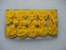 FG08 Yellow Rose Flower Chinese Frog Closure Buttons Knots Sewing/Craft 5prs