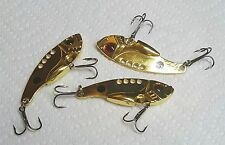 "CORDELL GAY BLADE / STYLE (3)-LURES VIBE METAL GOLD BAIT 2.25"" - 1/3oz. LURES"