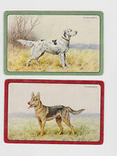 CANINE COMPANIONS X 2 ONLY SGL.VINT.PLAYING/SWAPCARDS