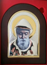 St. Charbel Makhlouf  silver coated icon,7.87',20 cm