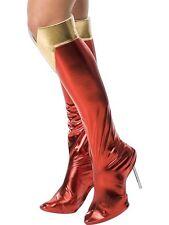 Señoras Supergirl Mujer Maravilla Hero Super Fancy Dress Costume bota cubiertas sólo