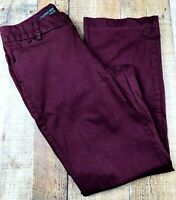 Lee Curvy Fit Women's Burgundy Casual Pants Size 12 Medium 30x30 Stain on Leg