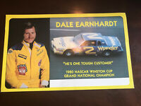 Dale Earnhardt 1980s #2 Wrangler Post card/ Hero card-Nascar 6x9
