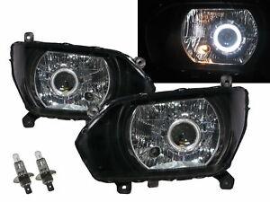 500 MK5 15-Present 2D Guide LED Angel-Eye Headlight W/ Motor Black for HINO LHD