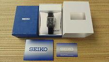 FANCY SEIKO V739-5880 TUXEDO DOUBLE WATCHBAND BAND MESH BRACELET WATCH BOXED SET