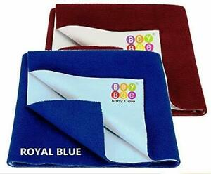 Bey Bee Water Bed Protector Baby Dry Sheet (RoyalBlue/Maroon) Free Ship