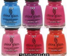 6 Colors LOT KICKS Collection CHINA GLAZE Nail Polish 0.5oz LOT
