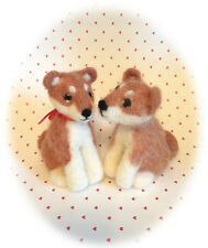 NEEDLE FELTING KIT DOG SHIBA INU PUPPY WOOL NEEDLE TUTORIAL NEW IN THE PACKAGE